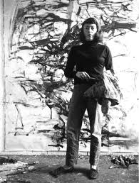 Joan Mitchell Painting in the Studio