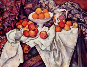Cezanne's still life with Apples & Oranges